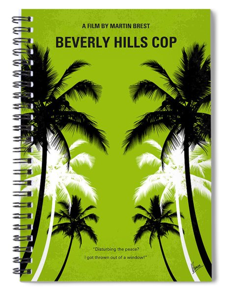 No294 My Beverly Hills Cop Minimal Movie Poster Spiral Notebook