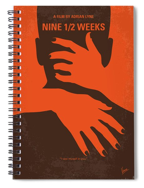 No305 My Nine Half Weeks Minimal Movie Poster Spiral Notebook