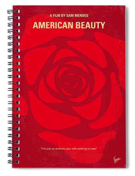 No313 My American Beauty Minimal Movie Poster Spiral Notebook