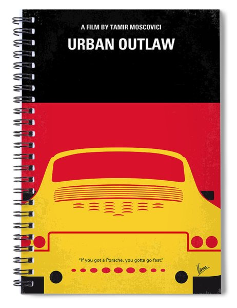 No316 My Urban Outlaw Minimal Movie Poster Spiral Notebook