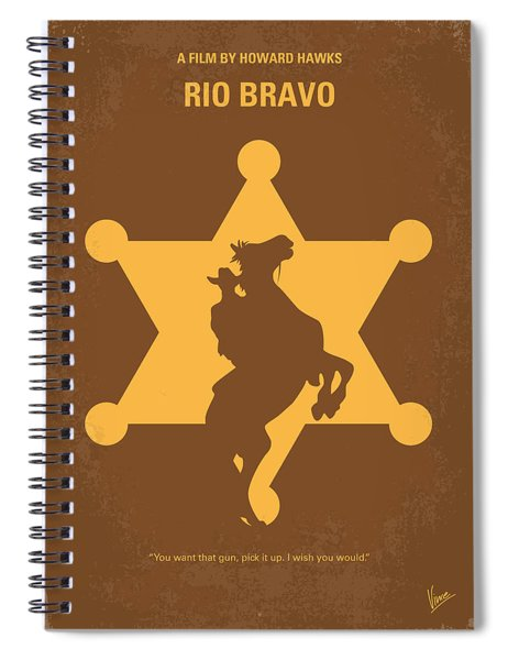 No322 My Rio Bravo Minimal Movie Poster Spiral Notebook