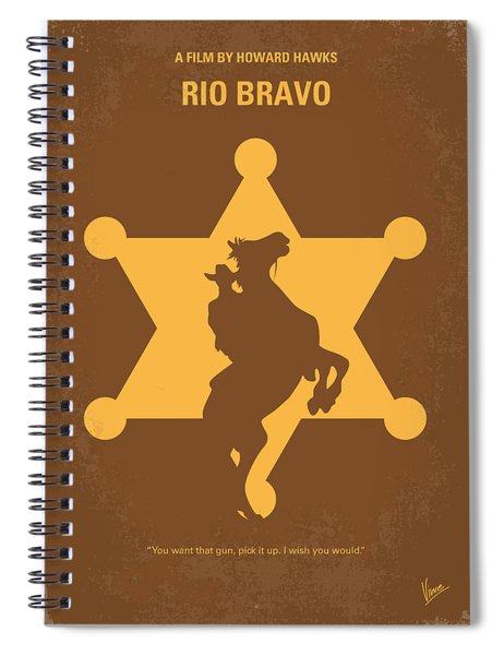 No322 My Rio Bravo Minimal Movie Poster Spiral Notebook