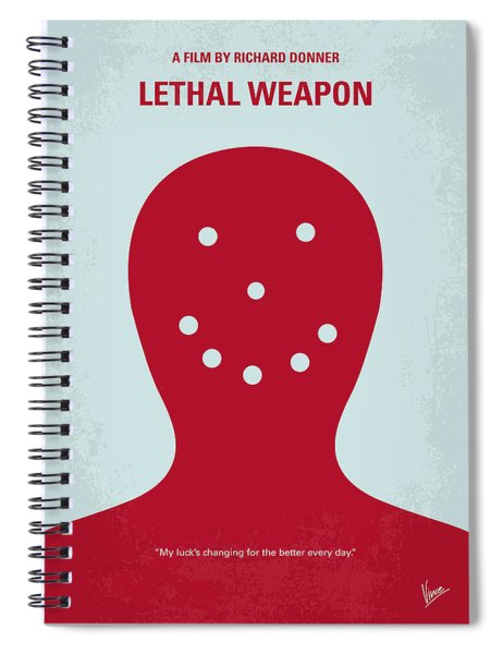 No327 My Lethal Weapon Minimal Movie Poster Spiral Notebook