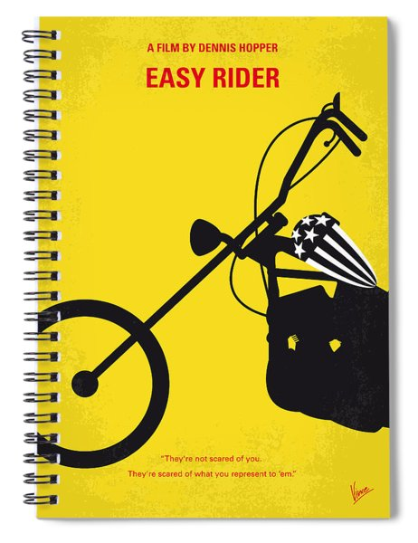 No333 My Easy Rider Minimal Movie Poster Spiral Notebook