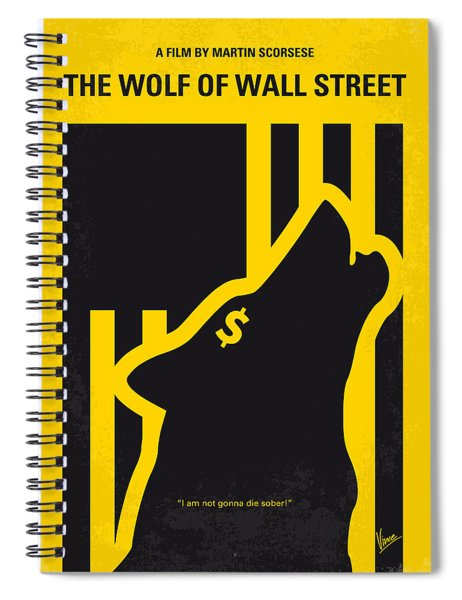 No338 My Wolf Of Wallstreet Minimal Movie Poster Spiral Notebook