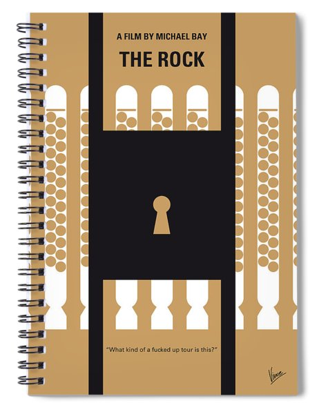 No339 My The Rock Minimal Movie Poster Spiral Notebook