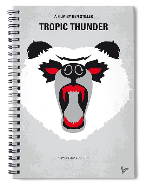 No344 My Tropic Thunder Minimal Movie Poster Spiral Notebook