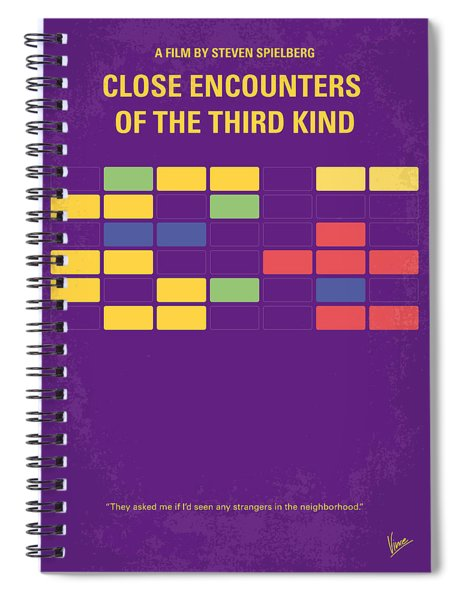 No353 My Encounters Of The Third Kind Minimal Movie Poster Spiral Notebook