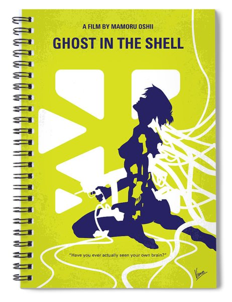 No366 My Ghost In The Shell Minimal Movie Poster Spiral Notebook