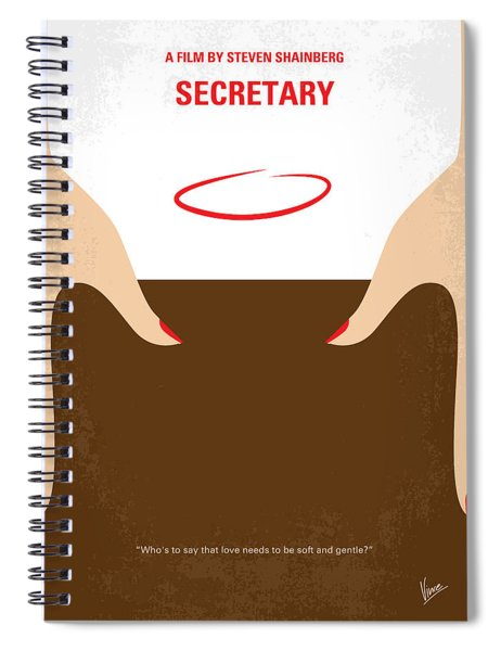 No371 My Secretary Minimal Movie Poster Spiral Notebook