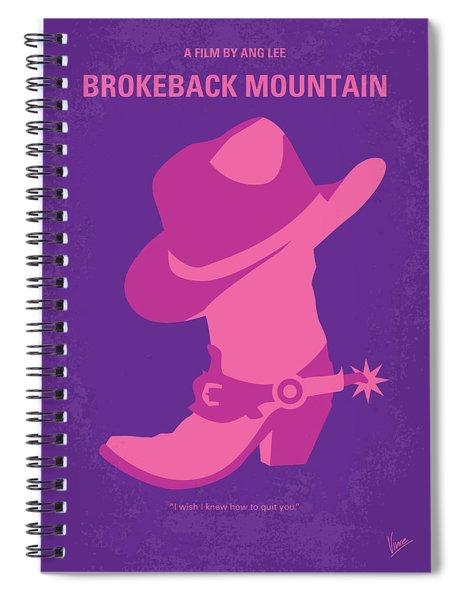 No369 My Brokeback Mountain Minimal Movie Poster Spiral Notebook