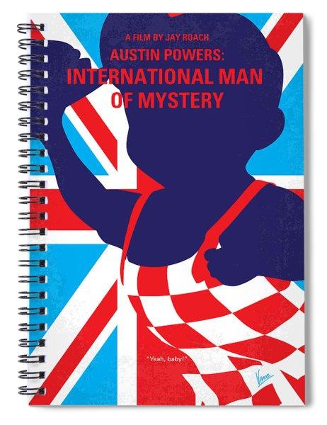 No373 My Austin Powers I Minimal Movie Poster Spiral Notebook