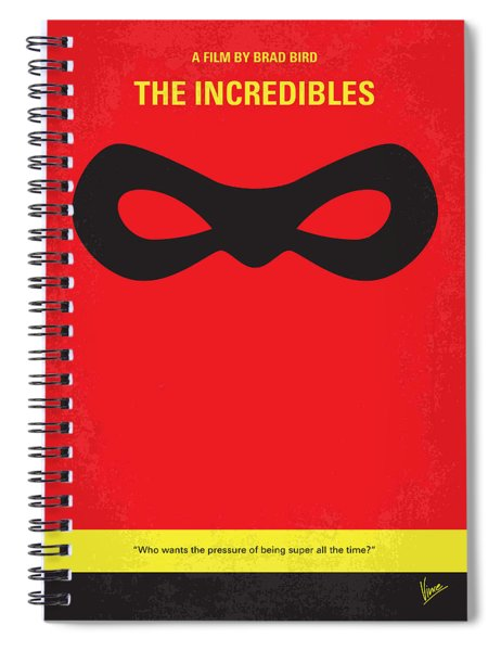 No368 My Incredibles Minimal Movie Poster Spiral Notebook