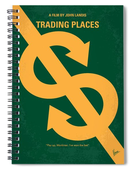 No377 My Trading Places Minimal Movie Poster Spiral Notebook