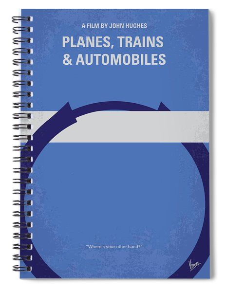 No376 My Planes Trains And Automobiles Minimal Movie Poster Spiral Notebook
