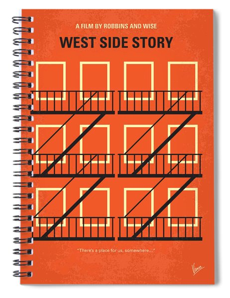 No387 My West Side Story Minimal Movie Poster Spiral Notebook