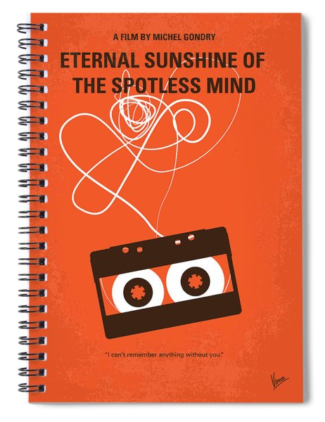 No384 My Eternal Sunshine Of The Spotless Mind Minimal Movie Pos Spiral Notebook