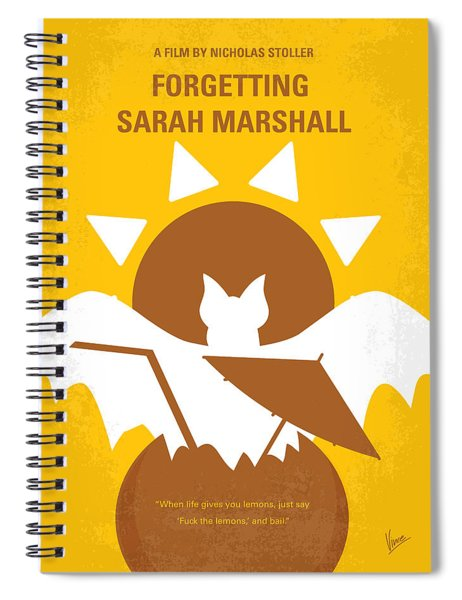 No393 My Forgetting Sarah Marshall Minimal Movie Poster Spiral Notebook