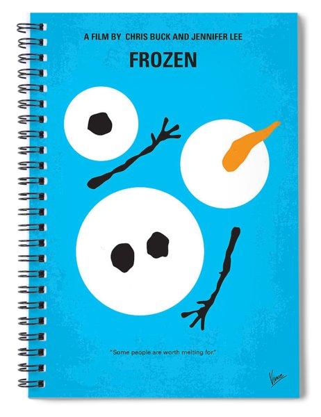 No396 My Frozen Minimal Movie Poster Spiral Notebook