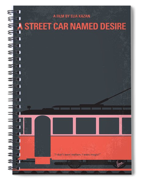 No397 My Street Car Named Desire Minimal Movie Poster Spiral Notebook