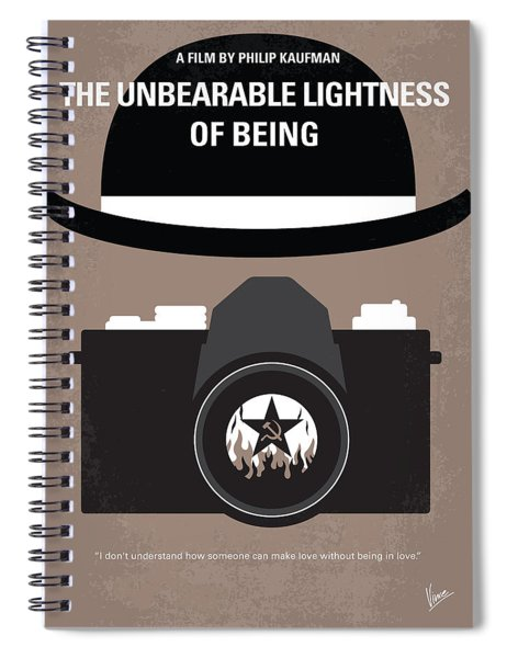 No401 My The Unbearable Lightness Of Being Minimal Movie Poster Spiral Notebook