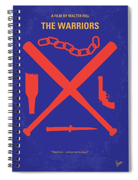 No403 My The Warriors Minimal Movie Poster Spiral Notebook