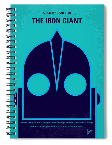 No406 My The Iron Giant Minimal Movie Poster Spiral Notebook