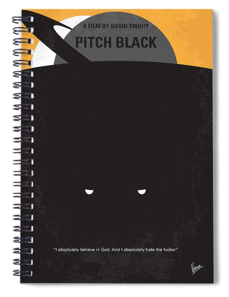 No409 My Pitch Black Minimal Movie Poster Spiral Notebook