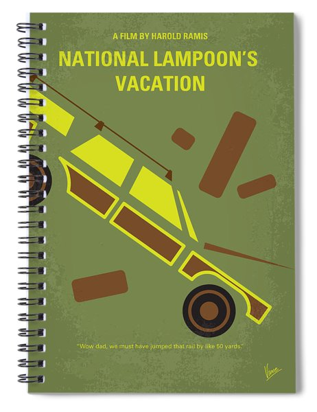 No412 My National Lampoons Vacation Minimal Movie Poster Spiral Notebook