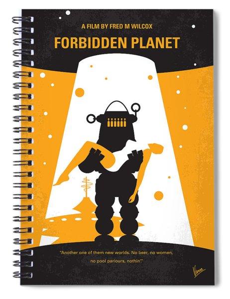 No415 My Forbidden Planet Minimal Movie Poster Spiral Notebook