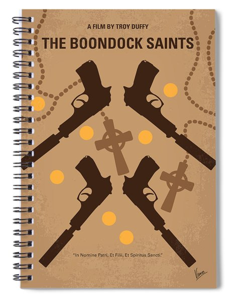 No419 My Boondock Saints Minimal Movie Poster Spiral Notebook