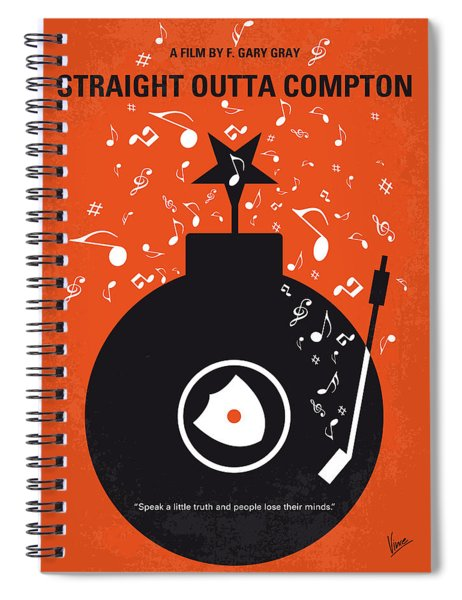 No422 My Straight Outta Compton Minimal Movie Poster Spiral Notebook