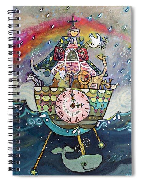Noah's Ark Cuckoo Clock Wall Art Spiral Notebook