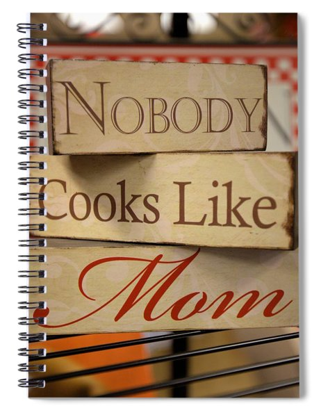 Nobody Cooks Like Mom - Square Spiral Notebook