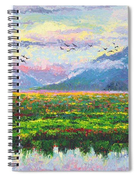 Nomad - Alaska Landscape With Joe Redington's Boat In Knik Alaska Spiral Notebook