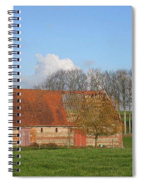 Normandy Storm Damaged Barn Spiral Notebook