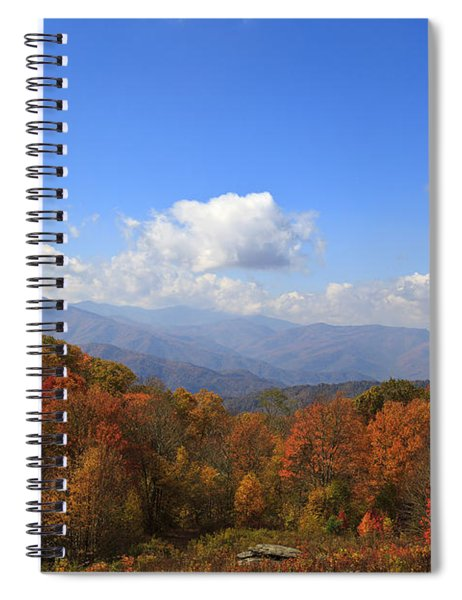 North Carolina Mountains In The Fall Spiral Notebook
