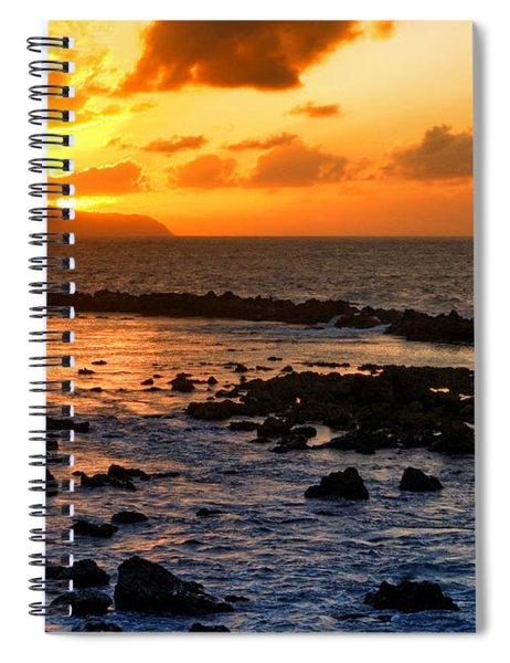 North Shore Sunset Spiral Notebook