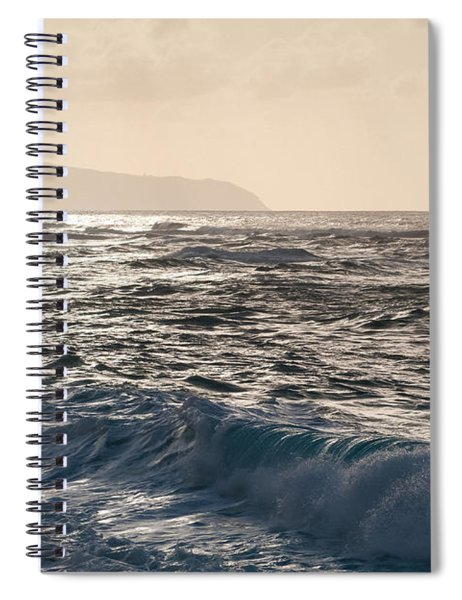 North Shore Waves Spiral Notebook
