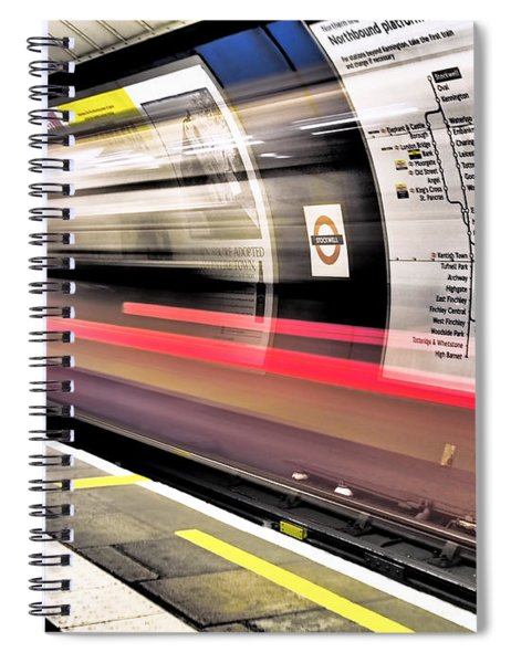 Northbound Underground Spiral Notebook