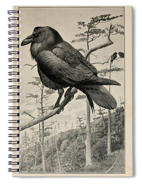 Northern Raven Spiral Notebook
