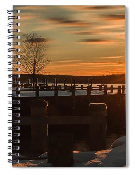Northport New York Winter Sunset Spiral Notebook