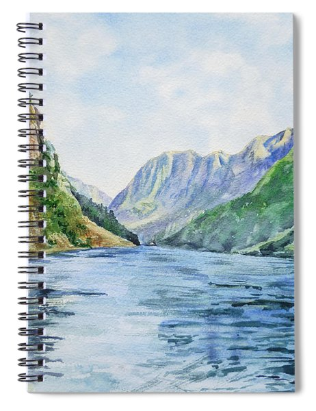 Norway Fjord Spiral Notebook