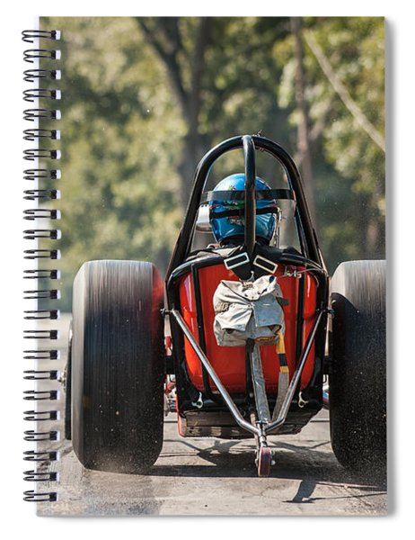 Nostalgia Front Engine Dragster Burnout Spiral Notebook