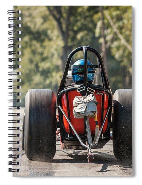 Nostalgia Front Engine Dragster Burnout Spiral Notebook