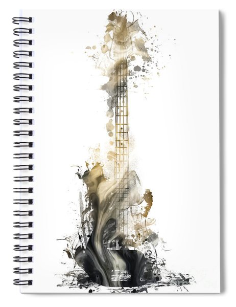 Nostalgy Guitar Watercolor Instrument Spiral Notebook