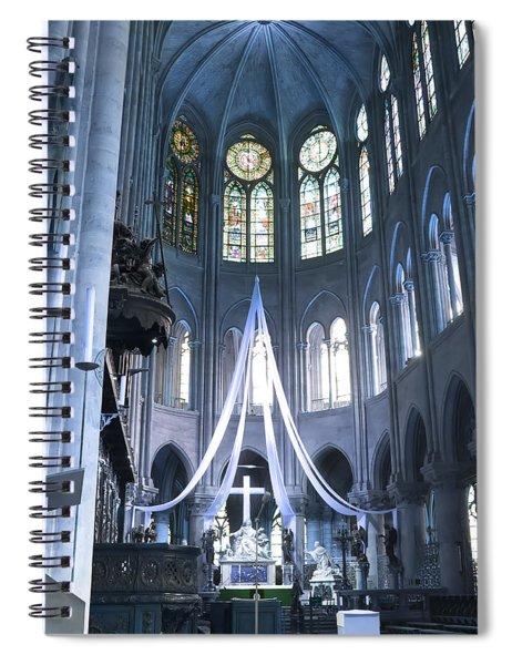 Notre Dame Altar Teal Paris France Spiral Notebook