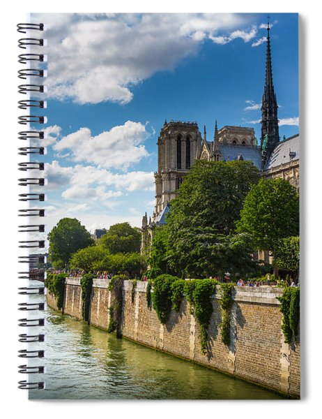 Notre Dame And The Seine River Spiral Notebook