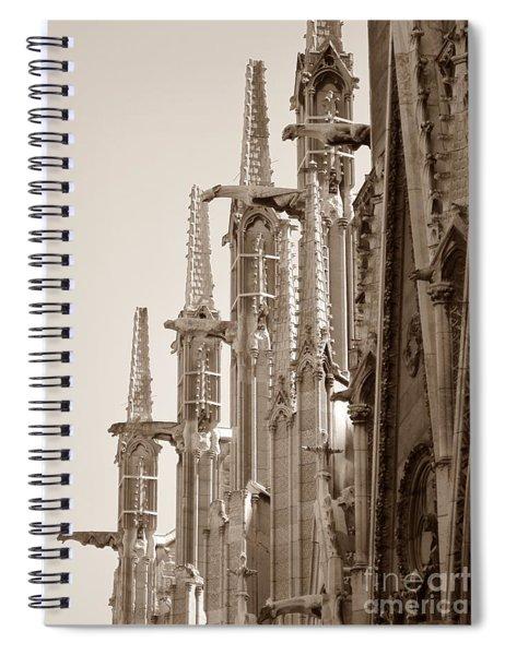Notre Dame Sentries Sepia Spiral Notebook