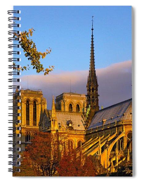 Notre Dame Sunrise Spiral Notebook